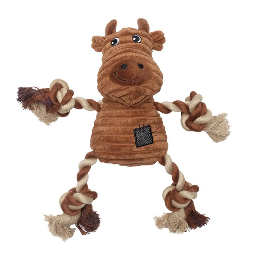 Dogit Stuffies Brown Cow